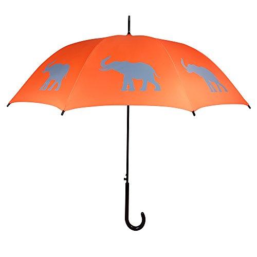 (San Francisco Umbrella Co, Orange/Gray Elephant Umbrella)