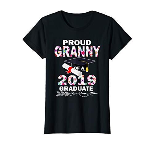 - Proud Granny Of A 2019 Graduate Floral T-Shirt Graduation Gi