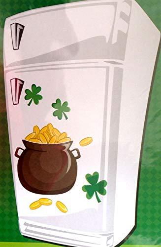 Lucky Irish Leprechaun POT Of GOLD SHAMROCKS PUZZLE MAGNETS Car Door Decorations
