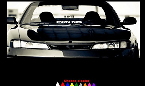 - MOVE OVER Decal Sticker Windshield Banner 23