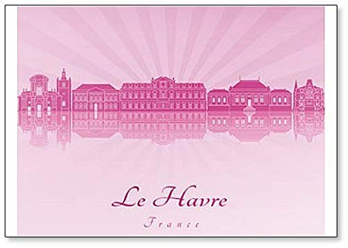 France, Le Havre Skyline - Classic Fridge Magnet