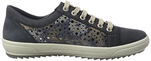 Rieker M6015, Sneakers Basses Femme Bleu (Ozean/Blau-metallic / 15)