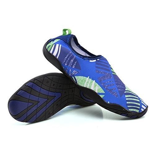 Zapatos Insun Mar Aqua Calzado Cycling Piscina de Acuáticos Escarpines de Río Surf Vela Playa Unisex para Natación Azul Agua Deportes Snorkel Buceo wrpwPq5
