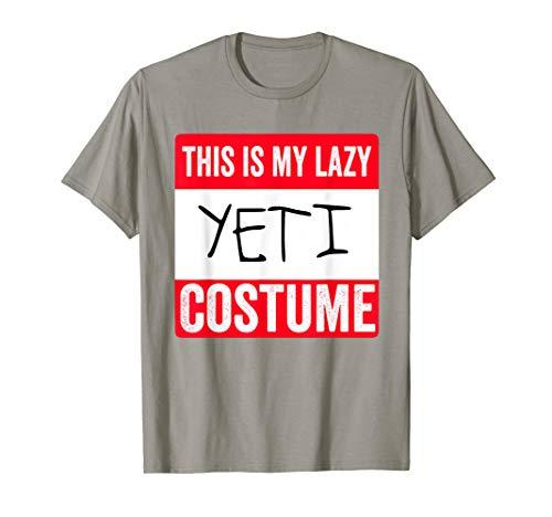 This is my lazy Yeti costume Shirt -