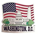 Patriotic White House Souvenir Magnet Featuring