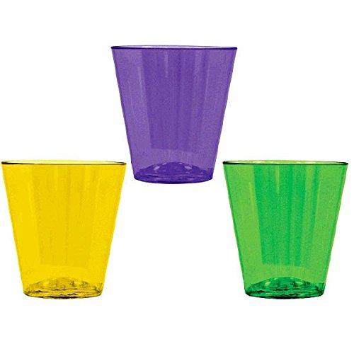 Mardi Gras Party Shot Glass - Mardi Gras Party Shot Glasses, 2 oz., 40 Ct.