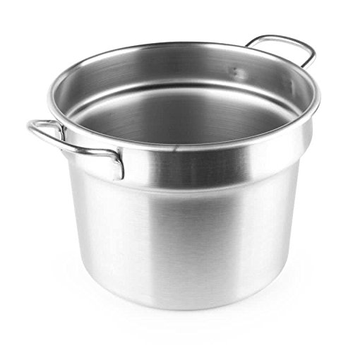 Tabletop king 77113 11 Qt. Stainless Steel Double Boiler Inset - Flat Bottom