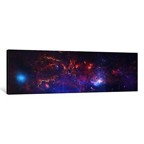 Art Chandra Art (iCanvasART 1-Piece Center of The Milky Way Galaxy 'Chandra/Hubble/Spitzer' Canvas Print by NASA, 0.75 x 48 x 16-Inch)