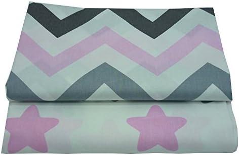 2 piezas 50cm * 160cm Estrellas zigzag estampado tela de algodón,telas para hacer patchwork, telas tilda, retales de telas, tela algodon por metros: Amazon.es: Hogar