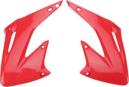 UFO Plastics Radiator Cover Red for Honda CR 125R 250R 02-07 (2003 Cr250r Radiator compare prices)