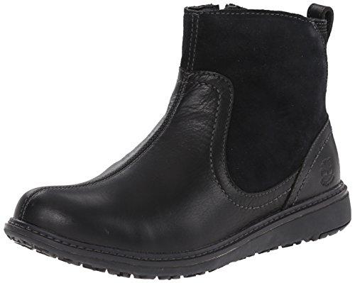Timberland Women's EK Ashdale Ankle WP Rain Boot,Black,7.5 M US
