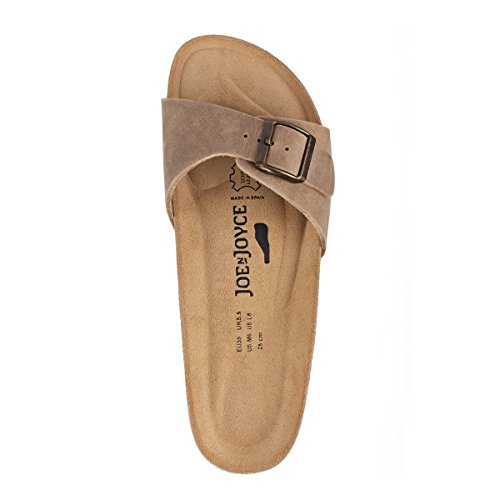 JOYCE Soft Sandals Beige Leather N JOE Footbed Natural Narrow Porto X5qCpxwR