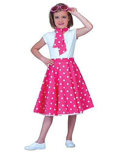 Morris Costumes Sock Hop Skirt Child Pink Whit