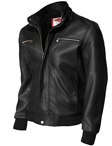 Romovable hooded Motorcycle Faux Leather - Sale Zegna Sport