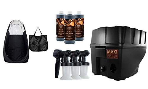 MaxiMist Pro TNT Spa Quiet Spray Tanning System with Tent, Compare To Norvell Prestige 2100 (Black)