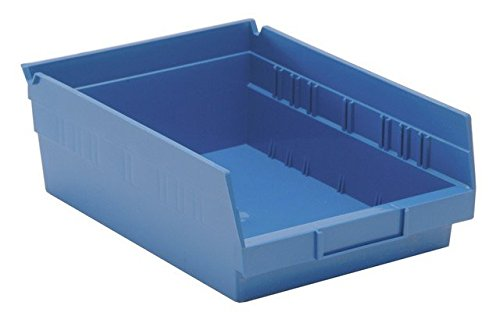 Quantum Storage QSB107BL Economy 4 in. Shelf Bin, Blue - 11.62 x 8.37 x 4 in.