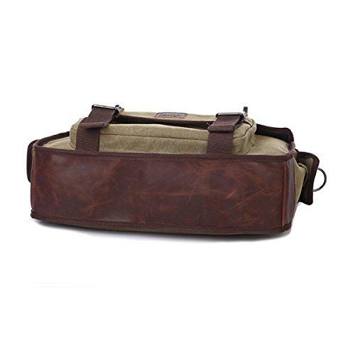 Uomini E Donne Tela Vintage Spalla Cartella Messaggero Tote Lavorare Outdoor Il Sacchetto,Brown-41cm*12cm*30cm