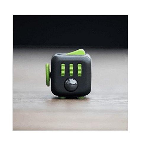 Fidget Cube Relieves Stress And Anxiety for Children and Adults (Black Green)