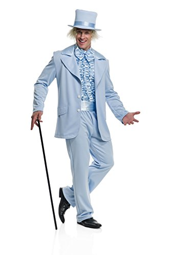 Charades Men's Funny Tuxedo Costume, Blue, Large -