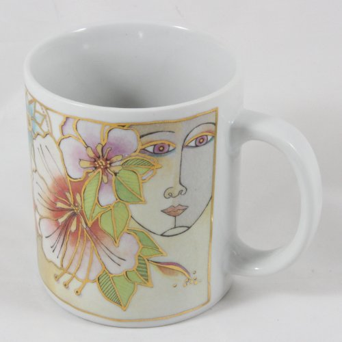 Laurel Burch 1993 Blossoming Spirit Coffee Mug 12 oz.