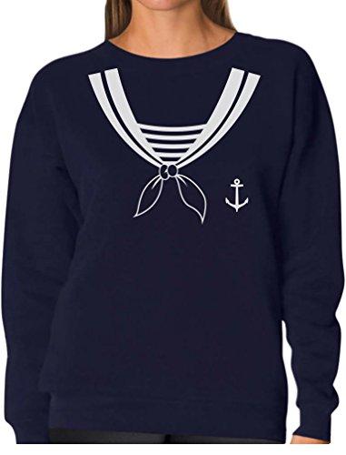 TeeStars - Halloween Sailor Costume Women Sweatshirt Medium Navy -