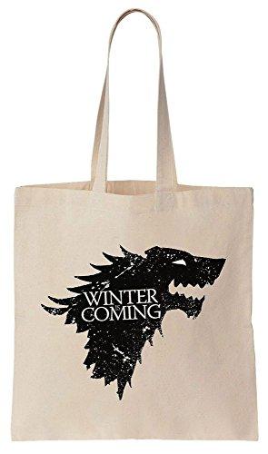 Winter Is Coming Direwolf Of House Stark Sacchetto di cotone tela di canapa