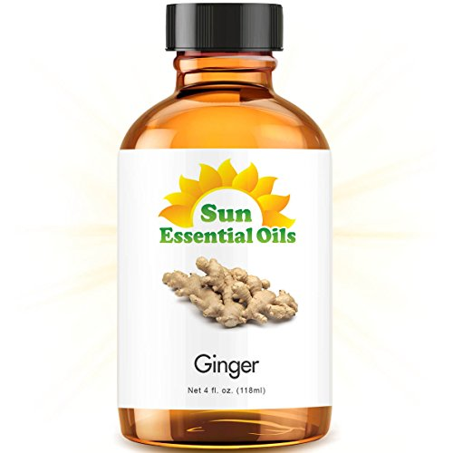 Ginger (Large 4 ounce) Best Essential Oil by Sun Organic