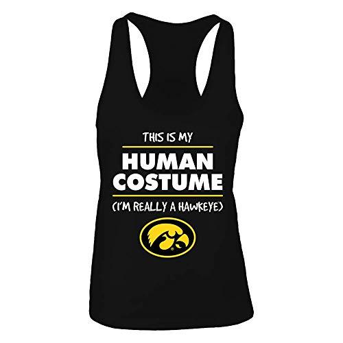 FanPrint Official Sports Apparel Women's Tank Top Iowa Hawkeyes Halloween Iowa Hawkeye Costume T-Shirt   Tank, Size L, -