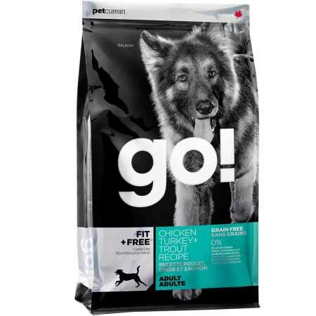 Petcurean Go Fit + Free Adult Dog Food Chicken Turkey + Trout (25 lb)