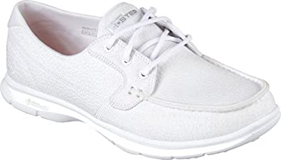 5012b6c6c0d19 Skechers Women's Go Step-Riptide Boat Shoes, White, 5 F UK: Amazon ...