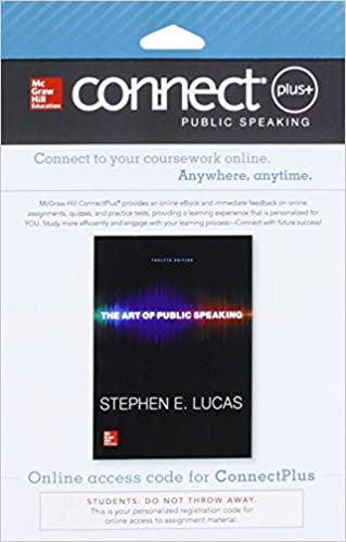 Connect access card for the art of public speaking stephen e lucas connect access card for the art of public speaking 12th edition fandeluxe Image collections