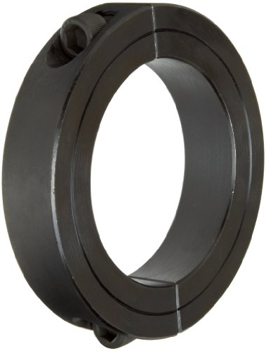 Climax Metal 2C-175 Steel Two-Piece Clamping Collar, Black Oxide Plating, 1-3/4