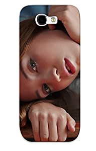 Galaxy Note 2 Ezidnv-1998-dwiajoh Women Models Erroticaarchives Magazine Auburn Hair Tabletop Zara Leaning On Elbows Tpu Silicone Gel Case Cover For Lovers