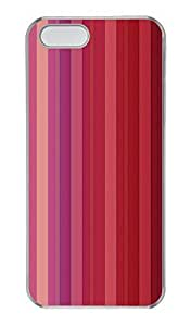 iphone 5c/5s Case, Personalized Protective Red Stripe Case for iphone 5c/5S PC Clear Phone Cover