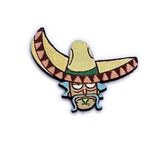 Señor Rick Pin | Riggity Wrecked Sombrero Rick Sanchez Hand-Painted Wood Lapel Pin