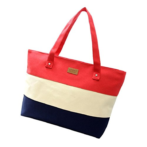 Fami Stripe rouge à Mode toile féminine sac bandoulière waxwP1qZ4