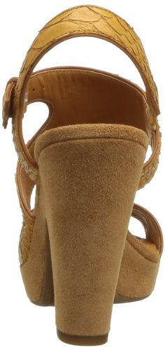 Geox D Nurit B - Sandalias de Vestir de cuero mujer marrón - Marron (Lt Brown)