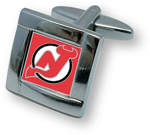 NHL New Jersey Devils Square Cuff LinksSquare Cuff Links, Team Color, 4