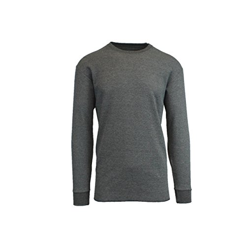 1bf44ffc16e5b4 Galaxy by Harvic Mens Charcoal Crew Neck Thermal Shirt Size XLarge