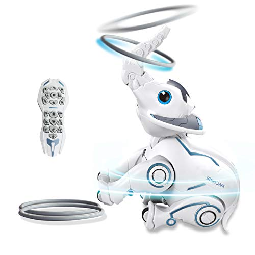 RC Robot Toy for Kids Remote Control Elephant Intelligent Programmable Electronic Smart Pets Dancing Robot with Sound…