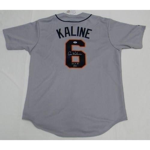 buy popular eaf71 bc8e4 Al Kaline Autographed Jersey - #6 Gray Majestic - PSA/DNA ...