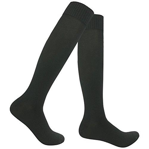 Breathable Membrane - RANDY SUN Men's Novelty Binding Business Breathable Socks Up to Knee Black 1 Pair