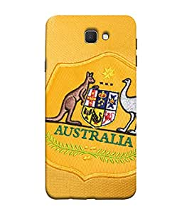 ColorKing Football Australia 09 Yellow shell case cover for Samsung J7 Prime