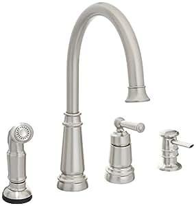 Moen 87042srs One Handle High Arc Kitchen Faucet Spot