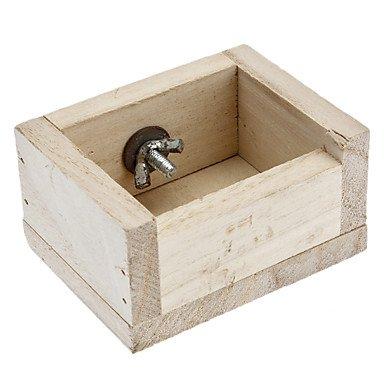 sj- comedero de madera pájaro jaula para loros Hamsters: Amazon.es ...