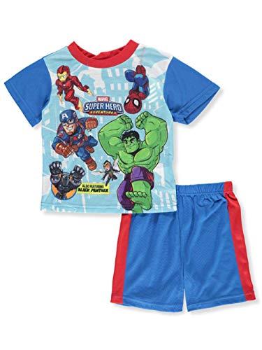 Marvel Superhero Adventures Little Boys' Toddler 2-Piece Pajamas - Blue/Multi, 3t -