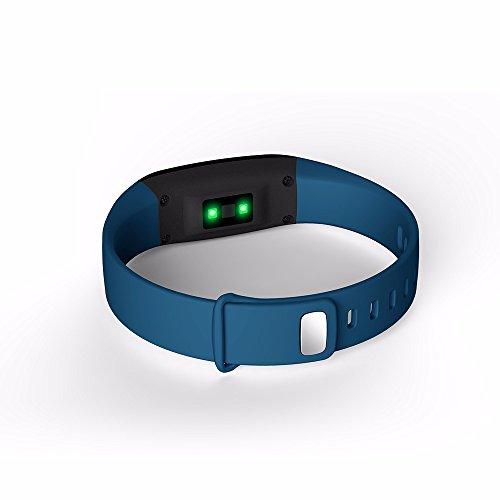 HSW SmartBand para medidor de presión arterial V07 - Smart Pulsera Monitor de ritmo cardíaco podómetro Bluetooth 4.0 pulsera Fitness Tracker Raise despertar ...