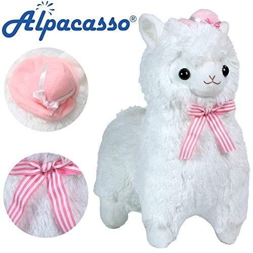 Alpacasso 17'' White Plush Alpaca, Cute Stuffed Animals Toy, Best Gifts for Kids. by Alpacasso