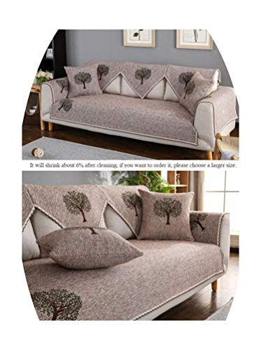 Fashion Home case for Sofa Cotton Printed Covers for Sofas 2 and 3 Seats Four Seasons Corner Sofa Cover sectional slipcovers,Tree-Coffee,90x160cm 1pc