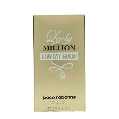 - paco Rabanne Lady Million Eau My Gold Eau de Toilette Spray, 2.7 Ounce